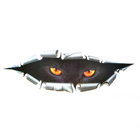 Image of Scary Cat Eye Car Decal