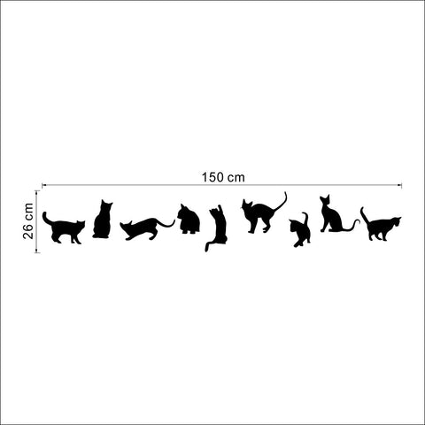 Nine Cats Wall Sticker