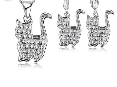 Image of Persian Cat Jewelry Set