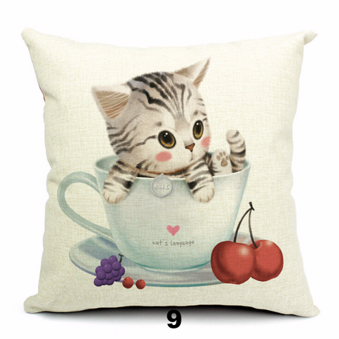 Adorable Cat Pillow Covers - I Love Cat Socks
