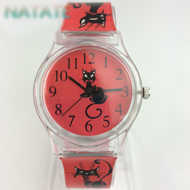 Lovely Black Cat  Wrist Watch