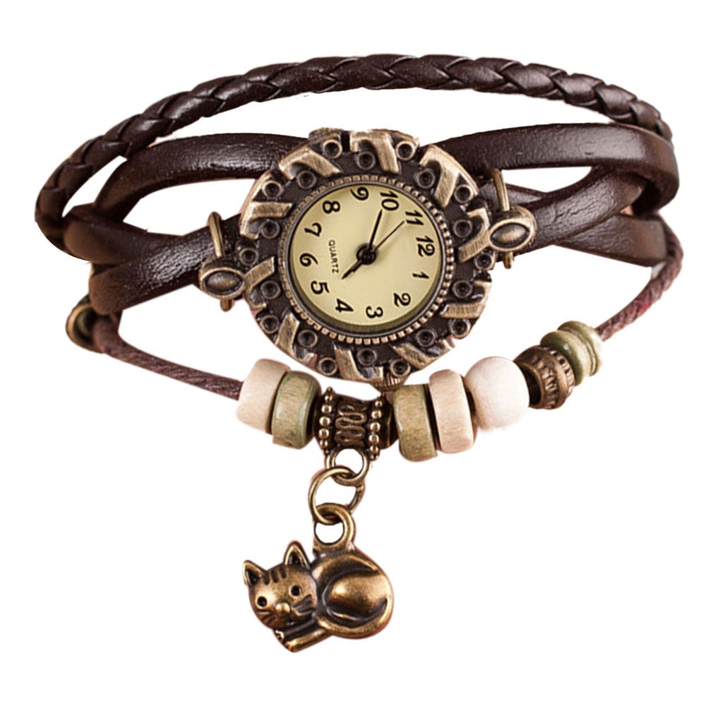 Cat Pendant Wrist Watch - I Love Cat Socks