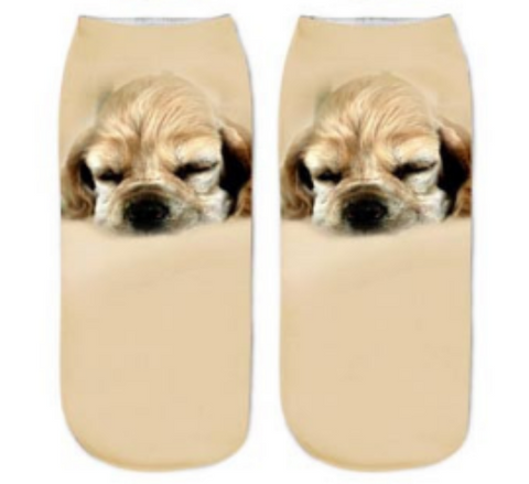 Image of Cute Puppies Design Socks - I Love Cat Socks