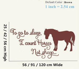 Count Horses Wall Sticker