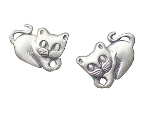 Cat Stud Earrings - I Love Cat Socks