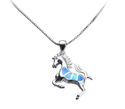 Opal Horse Necklace