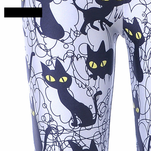 Sexy Cat Printed Pants - I Love Cat Socks - 3