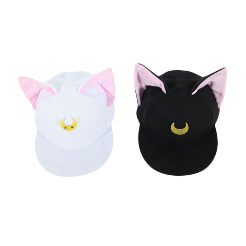 Cat Ears Baseball Cap - I Love Cat Socks