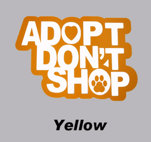 Adopt Don't Shop Car Decal - I Love Cat Socks