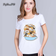 Cats In A Tea Cup Shirt For Women