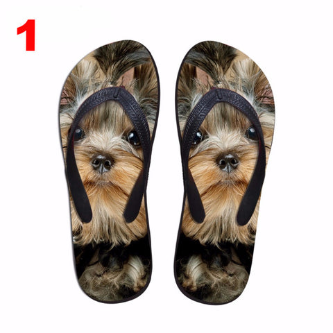 3D Cats and Dogs Flip Flops