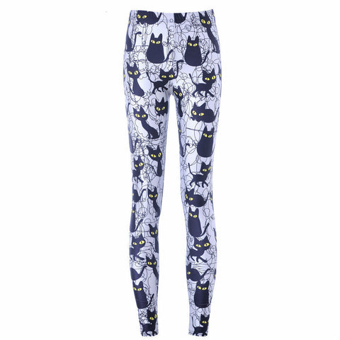 Sexy Cat Printed Pants - I Love Cat Socks - 1