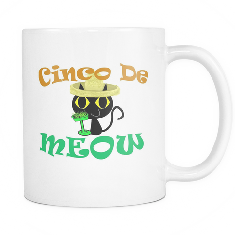 Cinco De MEOW 11 oz Coffee Mug - I Love Cat Socks