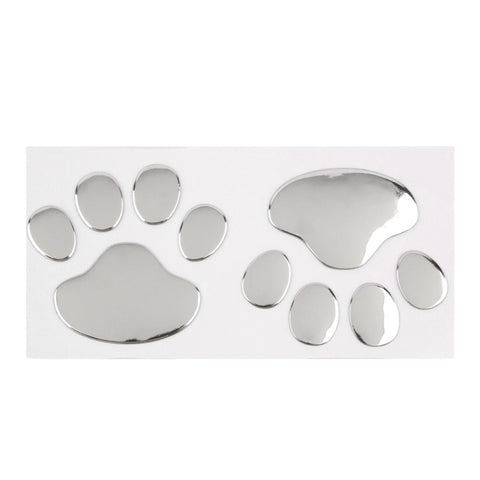 Cat Dog Paw Print Car Decal - I Love Cat Socks