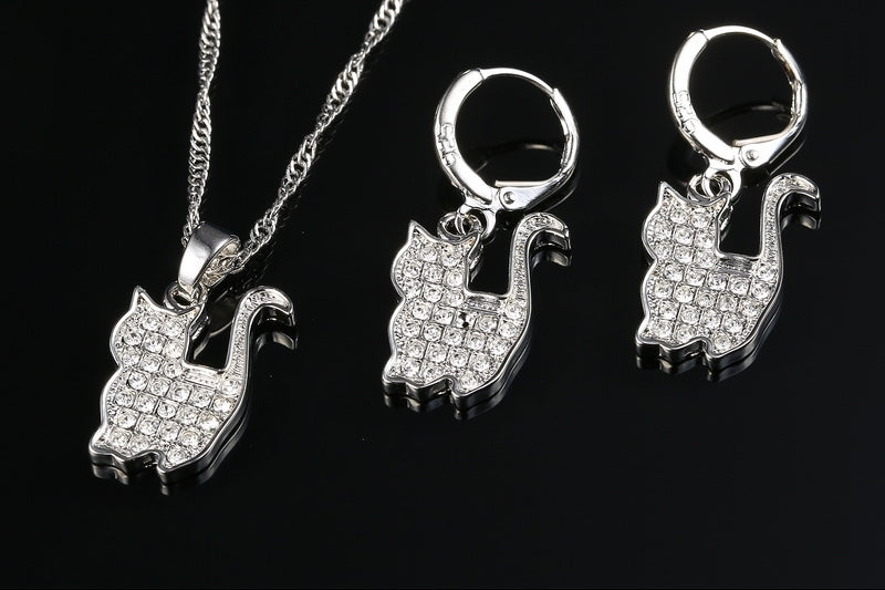 Persian Cat Jewelry Set