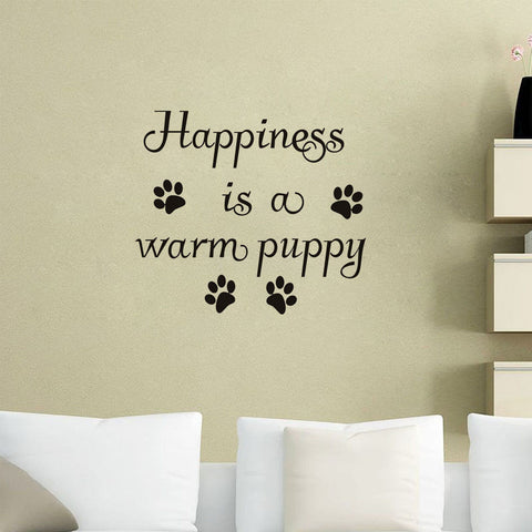 Image of Happiness Is A Warm Puppy Wall Sticker