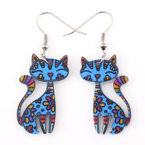 Flower Cat Earrings - I Love Cat Socks