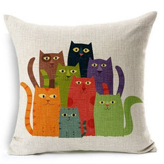 Funny Cartoon Cat Pillow Case