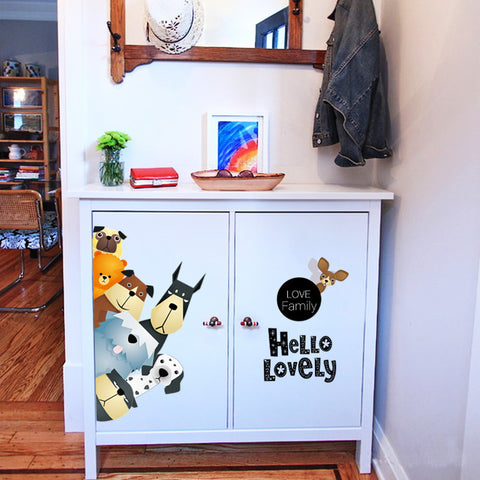 Image of Dog Family Wall Decals - I Love Cat Socks