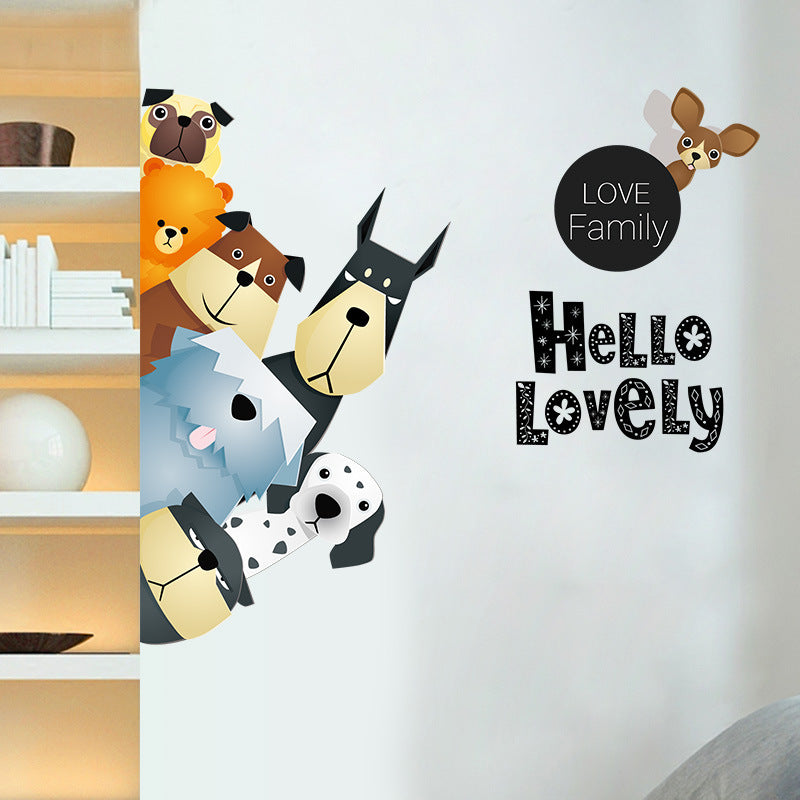 Dog Family Wall Decals - I Love Cat Socks
