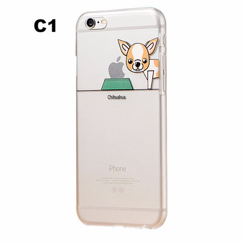 Image of Cute Dog Eating Apple Phone Case for Iphone - I Love Cat Socks