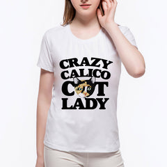Crazy Calico Cat Lady T-shirt