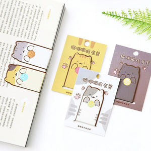 Fun Cat Magnet Bookmark - I Love Cat Socks