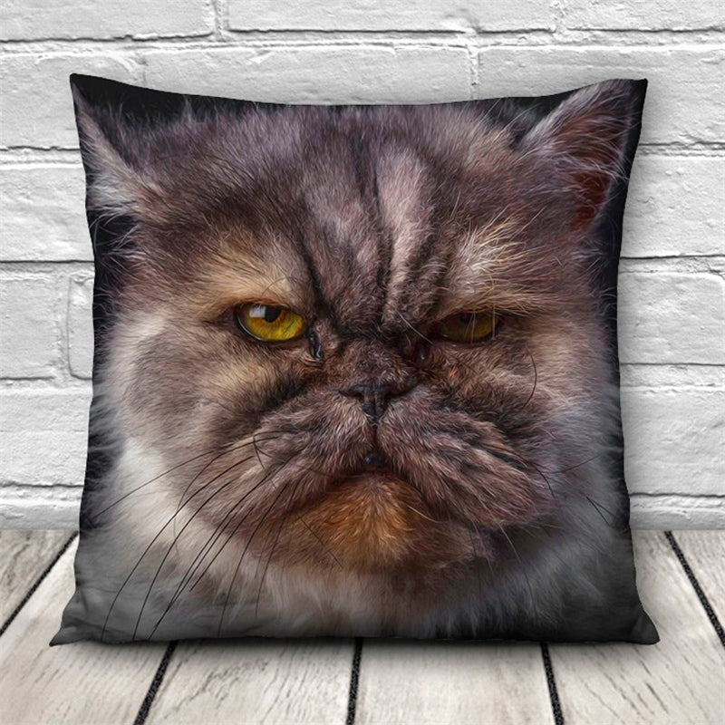 Cushion  Cat Animal Pillow Case - I Love Cat Socks