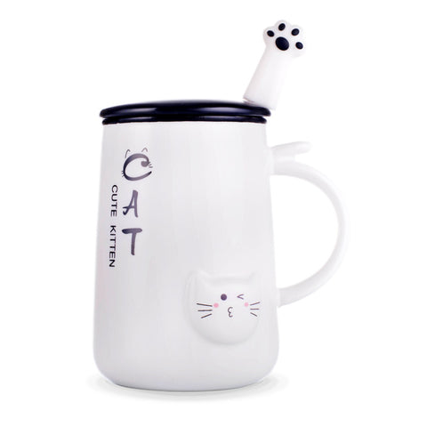 Image of Cat  Ceramic Mug - I Love Cat Socks