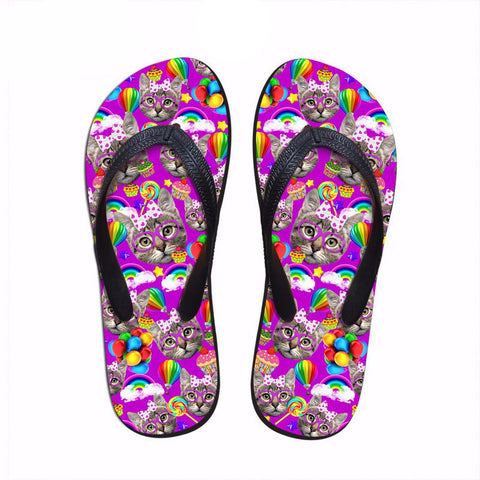 Kitty  Design For Woman Flip Flops