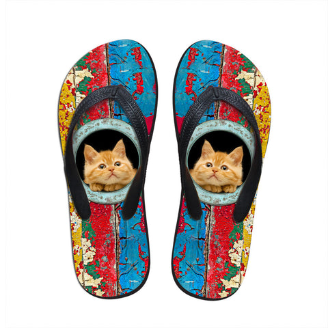 Colorful Cats Flip Flops