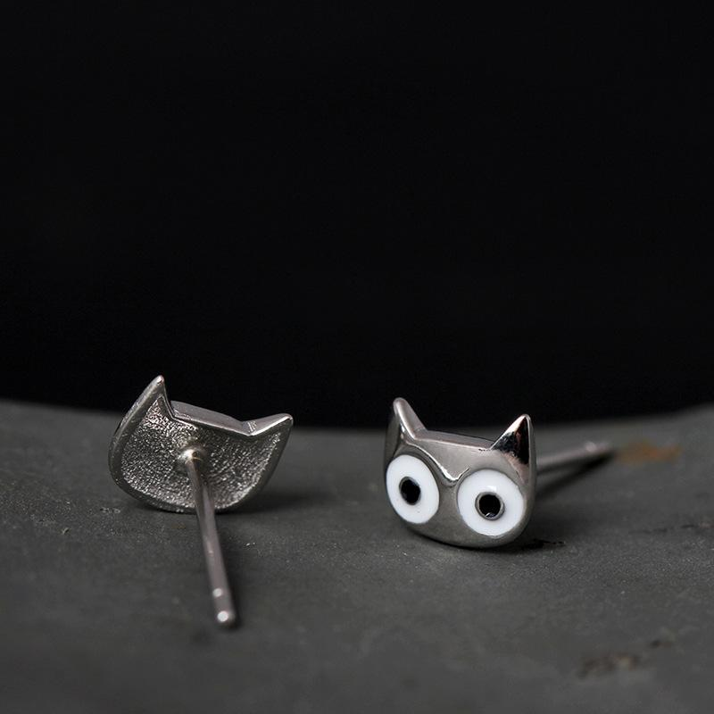 Big Cat Eyes Stud Earrings - I Love Cat Socks