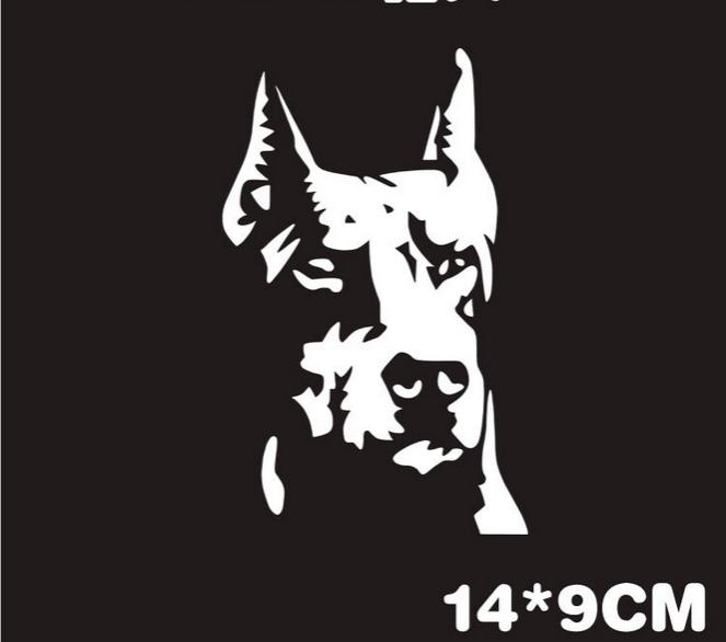 Doberman Pinscher Car Decal - I Love Cat Socks