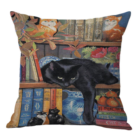 Image of Cat World Pillow Cover - I Love Cat Socks