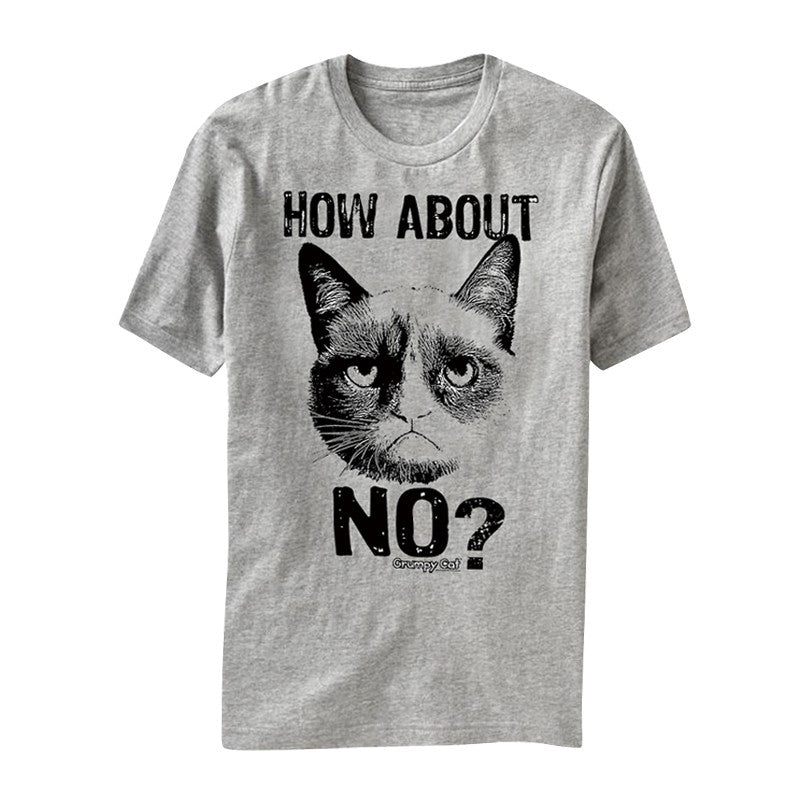 How About No Grumpy Cat Printed Shirt For Women