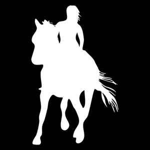 Girl Rider Horse Decals for Cars - I Love Cat Socks