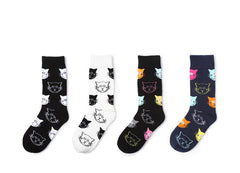 4 pairs Cat Pattern Women Socks