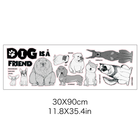 Image of Dog is a Friend Wall Sticker - I Love Cat Socks