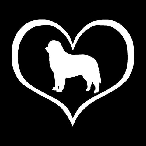 Image of Bernese Mountain Dog inside a Heart Car Decal - I Love Cat Socks
