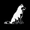 Siberian Husky Car Decal