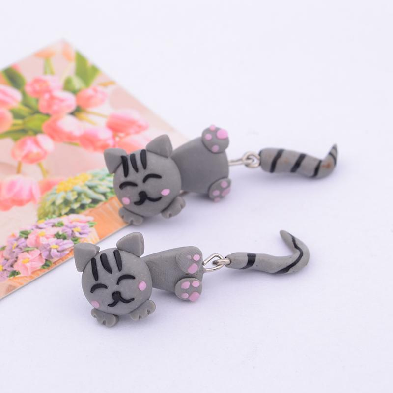Anime Cat Stud Earrings - I Love Cat Socks