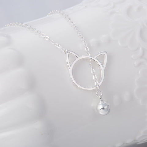 Image of Cat Bell Necklace - I Love Cat Socks
