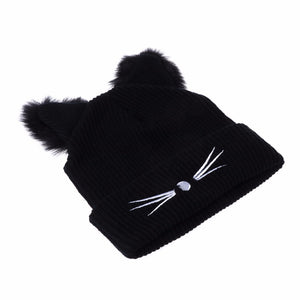 Cat Ears Women  Winter Beanie