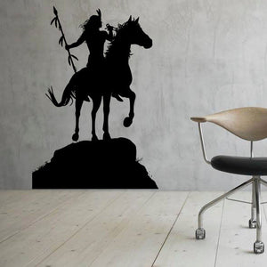 Native American Indian Horse Rider Wall Sticker