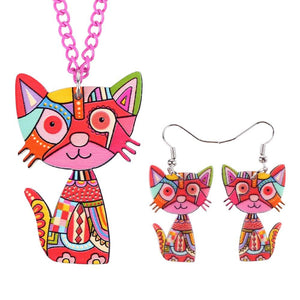 Cat Long Jewelry Set - I Love Cat Socks