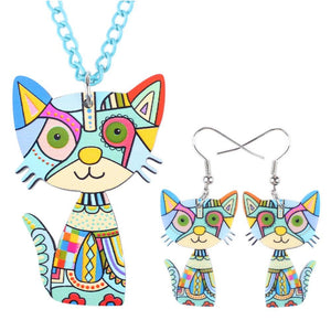Cat Long Jewelry Set