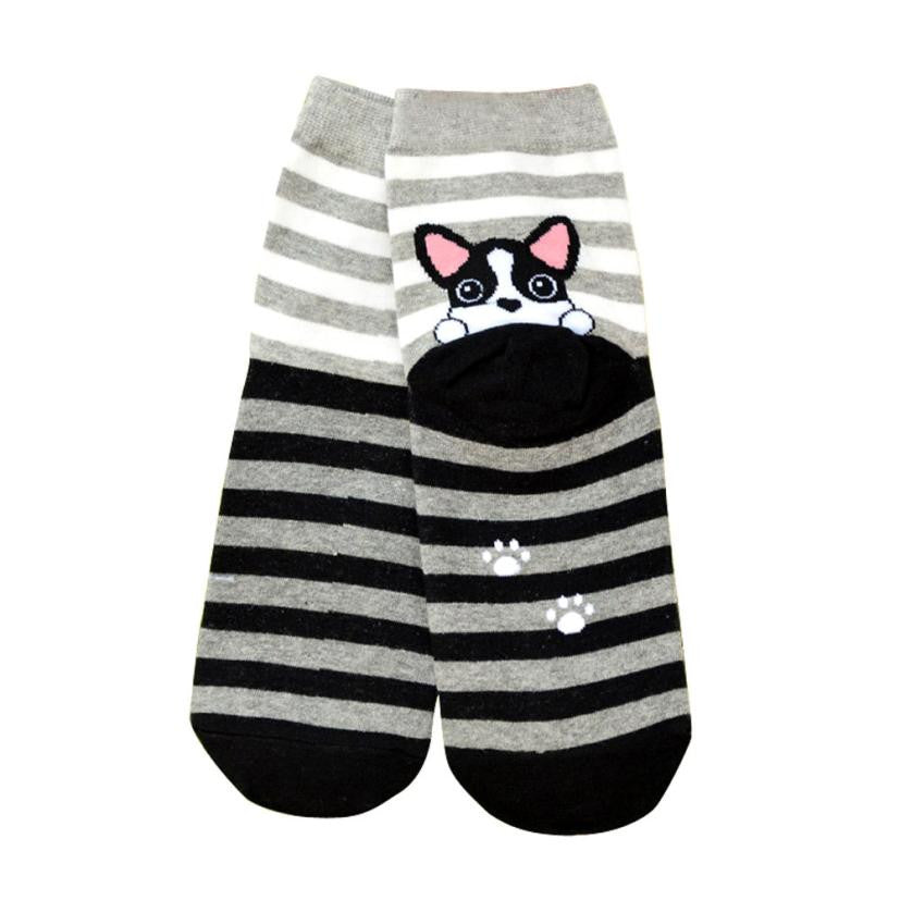 Cute Dog Printed Socks - I Love Cat Socks
