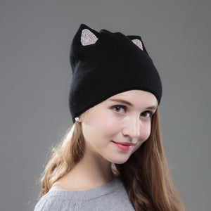 Autumn Winter Cat Beanie
