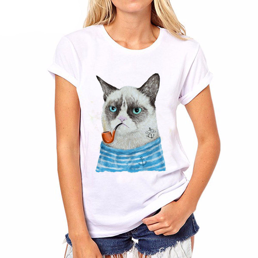 Cat Printed Fashion Shirt - I Love Cat Socks