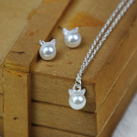 MInimalist Cat Jewelry Set